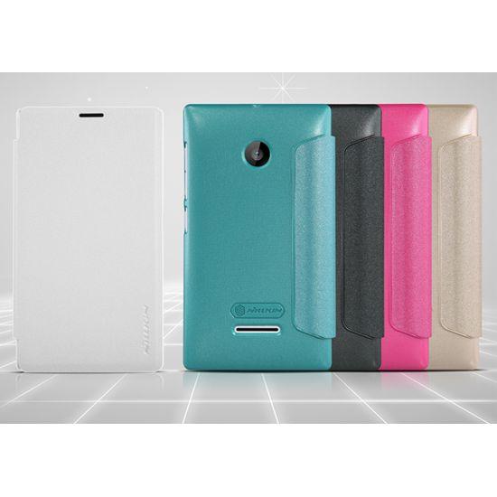 Nillkin flipové pouzdro Sparkle Folio pro Microsoft Lumia 435, bílá