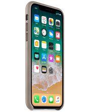 Apple kožený kryt na iPhone X kouřový