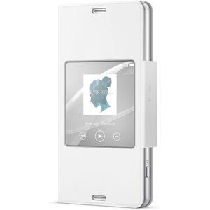 Sony flipové pouzdro Style Cover SCR26 pro Xperia Z3 Compact, bílá