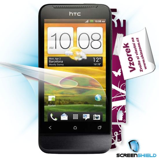 Fólie ScreenShield HTC One V - displej+voucher na skin