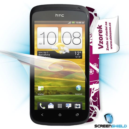 Fólie ScreenShield HTC One S - displej+voucher na skin