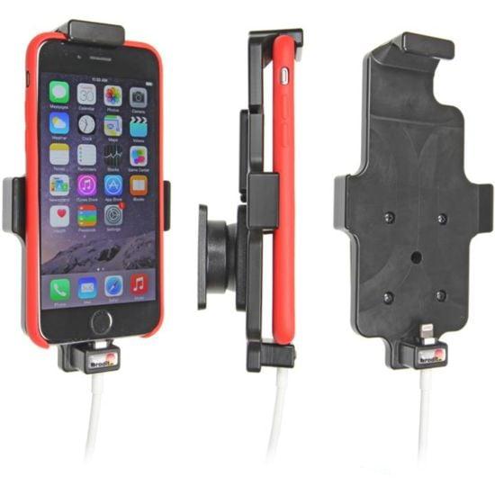 Brodit držák do auta na Apple iPhone 8/7/6s/6 v pouzdru, s pružinou,s průchodkou pro Lightning