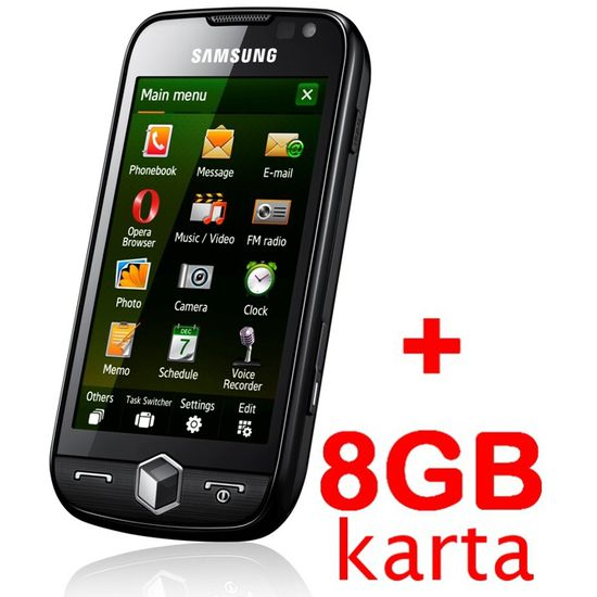 Samsung i8000 Omnia II Rose Black + 8GB karta